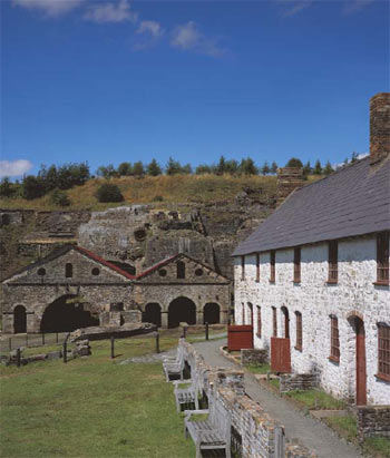 Stack Square cottages which stand adjacent to the ironworks that form part of the Blaenavon World Heritage site. ©Cadw, Welsh Assembly Government (Crown Copyright)