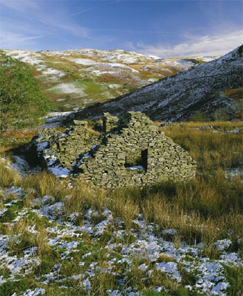 The deserted rural settlement of Hafod Eidos, Ceredigion. ©Cadw, Welsh Assembly Government (Crown Copyright)